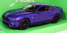 Nex Models 1/24-27 Scale - 2015 Ford Mustang 5.0 GT Met Blue Diecast model car
