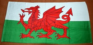 WELSH FLAG design velour BEACH TOWEL , WALES CYMRU