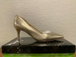 Sam Edelman Jari Women's Pointed Toe Half d'Orsay Pumps Shoes Heels Gold