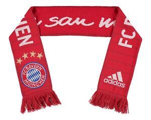 adidas FC Bayern Munich Scarf, Official Authentic Bayern Munchen Adidas Scarf