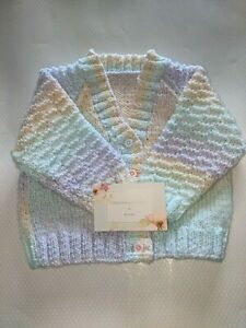 Hand knitted baby's cardigan 6-12 months