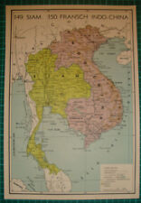 Old map French Indochina Siam 1939 kaart landkaart indochine carte