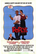 POPEYE MOVIE POSTER folded Original 27x41 Early ROBIN WILLIAMS 1980