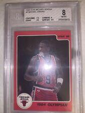 1986 Star #3 Michael Jordan  Beckett 8  - 1984 Olympian 9.5 Edges