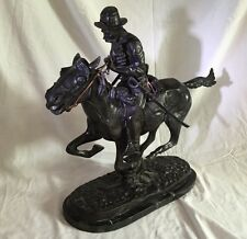 """Vintage Bronze """"Trooper Of The Plains"""" Statue By Frederic Remington 20""""H.Signed"""