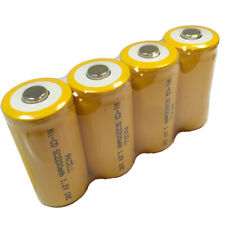 Pkcell 6 x High Drain 1.2V Sub C 2200mAh NiCd Rechargeable Battery Button Top