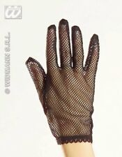 Black Net Gloves Fishnet Punk French Maid Fancy Dress Accessory