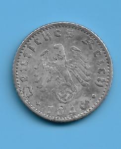 Germany Reich 1940  A 50 Rpf German Swastika Coin WW2 ERA COIN