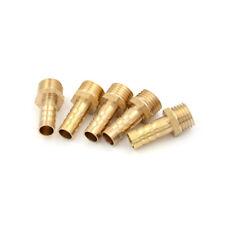 "5Pcs 1/4""PT Male Thread to 8mm Hose Barb Brass Straight Coupling Fittin OQ"