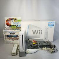 Nintendo Wii Bundle In Box W/ 13 Games Super Smash Bros Brawl, Wii Sports & More