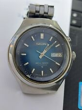 Seiko Bell Matic 4006-6060 Vintage Day Date 17 Jewels Blue Automatic Mens Watch