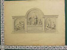 1817 DATED ANTIQUE PRINT MEMORIAM LEOPOLD CHARLOTTE WILLIAMSON SCULPTOR BALDING