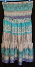 AMERICAN EAGLE OUTFITTERS Size M Blue Strapless Summer Dress Polyester Smocked