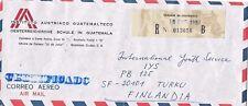 C) 1987 Guatemala, Osterreichische Schule In Guatemala To Turku Finlandia