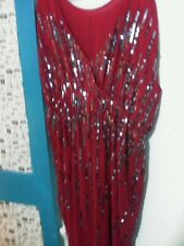 next red dress with sequins on new with tag size 22  plus
