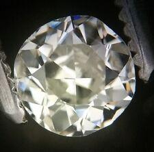 Gia Cert 0.44 Ct antiguos / vintage Redonda Antigua Corte Diamante me Vs2