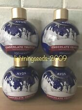 Avon CHOCOLATE TRUFFLE Bath & Body Wash 250ml x4 Festive Bauble-Shaped BRAND NEW