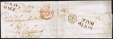 1779 Letter superb ROCHDALE x 2 POST PAID and BISHOP MARK in FRENCH