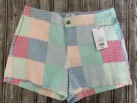 NWT Vineyard Vines for Target Women's Patchwork Whales Shorts size 10 Pink Blue