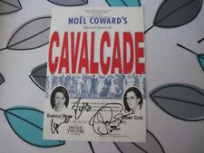 Gabrielle Drake/Jeremy Clyde autographed Theatre Bill Cavalcade 1195