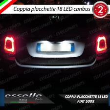 COPPIA PLACCHETTE A LED LUCI TARGA 18 LED FIAT 500X 500 X CANBUS NO AVARIA
