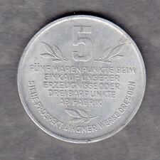 Dresden -Lingner Werke- 5 Warenpunkte Marke aus Aluminium (Menzel 7075.2)