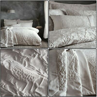 Silver Duvet Cover Oak Tree Jacquard Floral Bird Tree Quilt Cover Set Bedding
