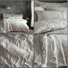 Silver Duvet Cover Oak Tree Jacquard Floral Bird Tree Quilt Cover Set Bedding