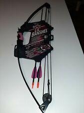 Barnett Pink Lil' Banshee Junior Archery Set Bow 2 Arrows 18lb. Draw Weight .