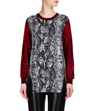 Markus Lupfer reptile print merino wool colour block jumper knitwear sz. XS