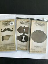 Sizzix Tim Holtz Movers & Shapers MINI MUSTACHE & FINGER, KEYHOLES, PUNCHES NEW