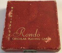 John Waddington Ltd Leeds & London Rondo Circular Playing Cards Gears