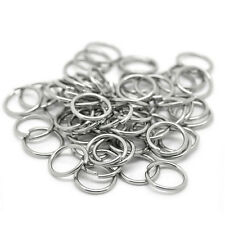 Wholesale Stainless Steel Silver Open Jump Rings Findings Supplies 5mm Dia~0.7mm
