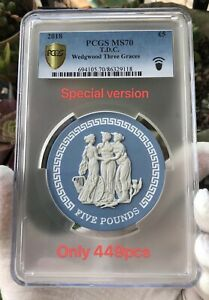 PCGS MS70 2018 UK The Three Graces Coin Wedgwood Jasperware Special Version