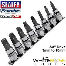 """Sealey Hex Socket Bit Set Lock On 8pc 3/8"""" Drive 3mm-10mm Allan Allen Key"""