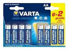 Varta High energy 8x AA Alkaline (6+2 valuepack) Batteries