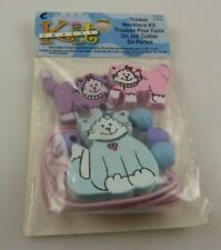 trinket necklace kit cat cats pink purple blue beads cord