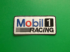 MOTOR RACING OILS, FUELS & TYRES SEW ON / IRON ON PATCH:- MOBIL 1 RACING (a)