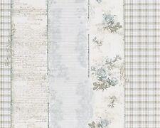 Tapete Landhaus Streifen Blumen creme blau livingwalls Djooz 95666-3 956663 (2,0
