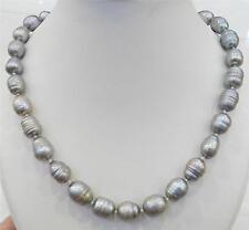 10-11mm, argent, couleur, Tahiti, perle, collier, 45cm