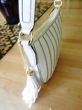 Michael Kors Applique Strap Canvas Nat/White MD Convertible Hobo MSRP $328