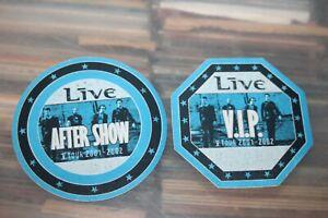 LIVE  - 2x Unused Backstage Pass    - FREE SHIPPING - Lot # 11 Ed Kowalczyk