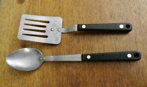 Vintage Utensil Flint/ Ekco Arrowhead Spatula  Serving Spoon Riveted Handle