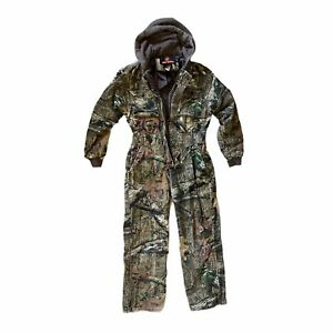 Youth Size Medium Insulated Thermal Camo Hunting Coveralls Body Suit Game Winner