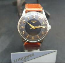 d9e25b976865 Década de 1960 LONGINES Manual De Dial Negro Reloj de Hombre Viento 12.60 ZG