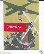 KLM ROYAL DUTCH DC-3 SHADOW OVER WINDMILL REPRODUCTION AIRLINE ISSUE POSTCARD