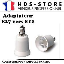 E27E12 PROLONGATEUR ADAPTATEUR E27 VERS E12 POUR AMPOULES CAMERAS OU STANDARDS