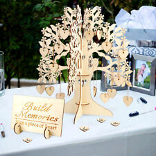 Wooden Wishes Tree & 100 Hearts Alternative Guest Book Wedding Baby Shower Favor