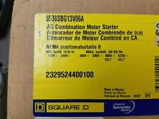New Square D AC Combination Motor Starter 8538SBG13V06A Size 0
