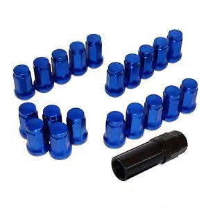 20pcs Steel Heptagon Wheel Lug Nuts M12xP1.5 Blue For HONDA TOYOTA ACURA SCION